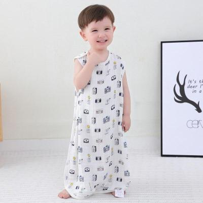 0-7year70% bamboo+30% cotton Newborn Sleeveless Baby Sleeping Bag Cartoon Bear  Kids Warm Sleeping Bag Printing Pattern S2
