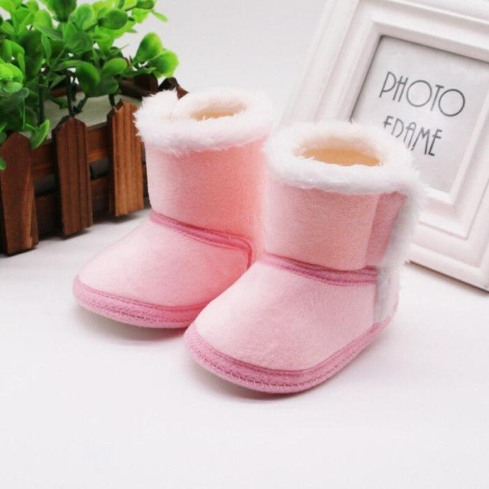 Newborn Toddler Warm Boots Winter First Walkers baby Girls Boys Shoes Soft Sole Fur Snow Booties for 0-18M