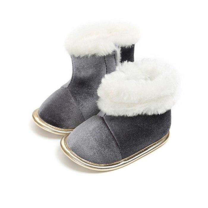 Winter Baby Boots Solid Bling Boys Girls Shoes Infants Warm Shoes Girls Baby Booties