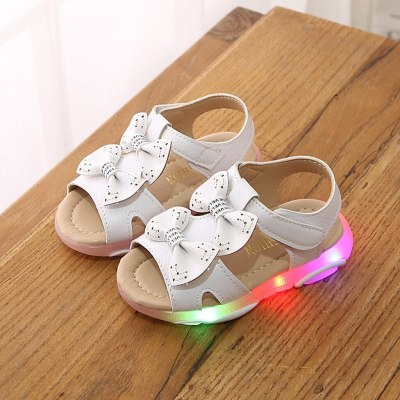 Fashion Children Baby Girls Sneakers Bowknot Led Light Luminous Sport Sandals Sneaker Shoes Baby Girl Shoes