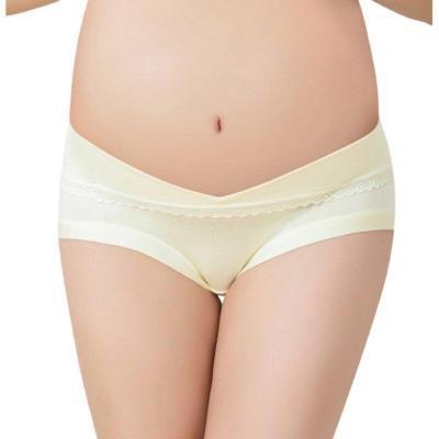 Cotton Pregnant Women Maternity Low Waist Briefs Panties Plus Size Female Solid Comfort Seamless Widen Waist Hip Underwear