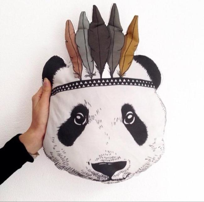 2016 New Fashion Baby Pillow Toys Kids Room Bed Sofa Decorative Panda Cushion Children's Best Gift