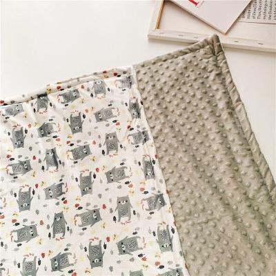 Newborn Baby Blankets 2 Layers 3D dot Minky Fleece Soft Thermal Alpaca Whale Swaddle Envelope Bedding Stroller Wraps for Infant