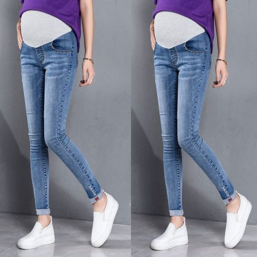 Fashion pregnancy pants Woman Ripped Jeans Maternity Pants Trousers Nursing Prop Belly Pants