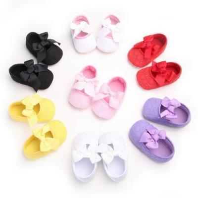 Cute Babys Newborn Toddler Infant Kids Lace Bowknot Anti-Slip Shoes Soft Bottom Shoes Princess Cribe Shoes