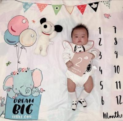 INS Baby Milestone Blanket Balloon Photo Photography Props Background Cloth Growth Monthly Commemorate Rug Boy Girl Accessories