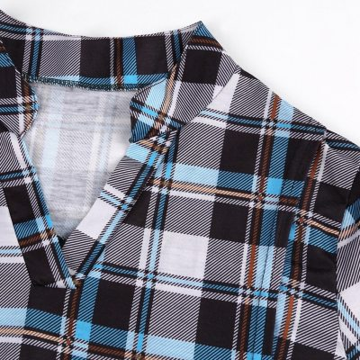 Women Maternity Tops Long Sleeve Plaid Print Nursing Tops Blouse For Breastfeeding Maternity Clothes