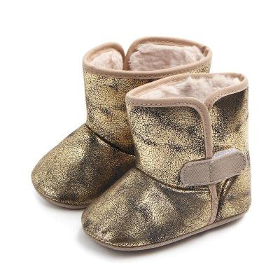 Baby High tube Boots Winter Fashion Child girls snow shoes warm plush soft bottom baby girls boots winter snow boot for baby