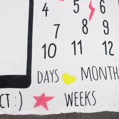 Baby Milestone Blanket Creative Photography Props Infant Flannel Swaddle Wrap Monthly Growth Anniversary Shooting Background