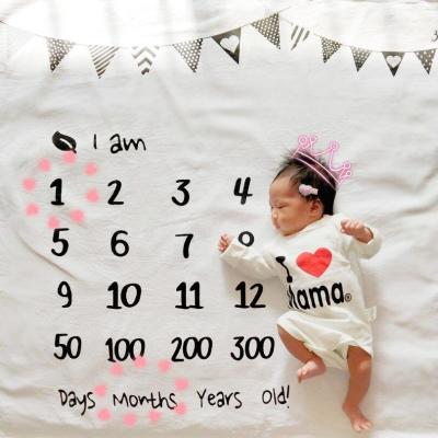 Newborn baby Monthly Growth Milestone Blanket photography props Background Cloth Commemorate Rug Girls Boy blanket Kids Shooting