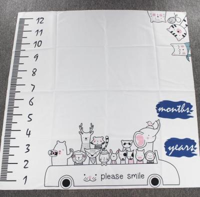 New Baby Milestone Blanket Animal Photography Props Memorial Growth Monthly Background Cloth Infant Bebe Photoshoot
