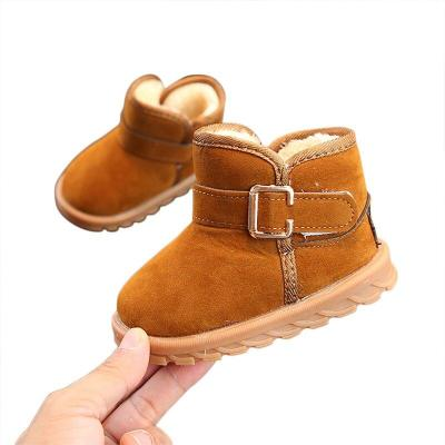 Kids Baby Toddler Shoes Child Winter Warm Snow Boots Shoes Plush Thicker Sole Boys Girls Snow Boots Shoes 1-6Y