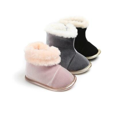Winter Baby Boots Solid Bling Boys Girls Shoes Russia Infants Warm Shoes Faux Fur Girls Baby Booties Leather baby boots