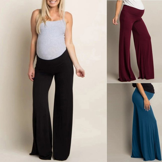 New 2020 Maternity Pants Woman High Waist Pants Trousers Pregnant Comfort Prop Belly Legging