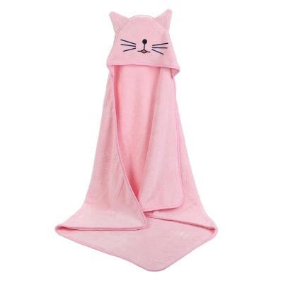 Baby Poncho Bath Towel Bebe Toalla Velvet 90*90cm Fleece Hood Infant Towels Blanket Newborn Baby Hooded Towel Infant Babies Spa