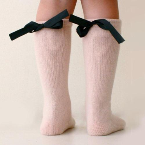 Baby Half Bow Socks Baby Knee Pads High Long Soft Cotton Baby Socks For Girls Winter Anti Slip Socks For Newborns