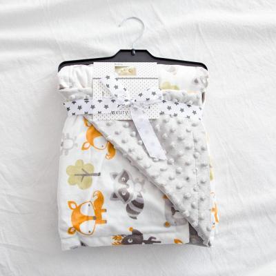 75x120cm baby blanket 3D dot cartoon unicorn minky fleece soft flannel Swaddle Wrap Stroller Sleep Cover kids infant quilt