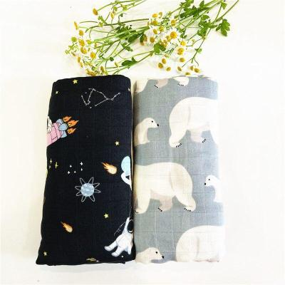 PCS/lot 70% bamboo+ 30% cotton baby Swaddle Wraps Cotton Baby swaddle blankets Newborn big diaper  bamboo quilt
