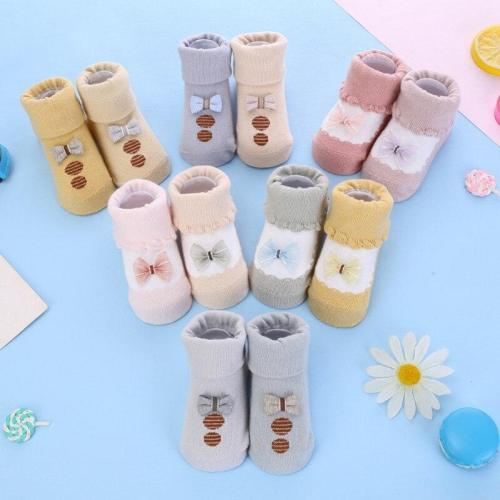 2pcs/set Baby socks rubber anti slip floor cartoon kids Toddlers autumn spring Fashion Animal newborn Cute 0-6-12month