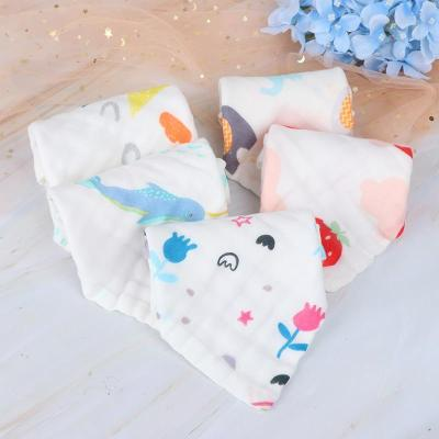 6 Layers Cotton Soft Baby Face Towel Muslin Baby Towels Handkerchief Bathing Feeding Face Washcloth Wipe Burp Cloths 25x25cm
