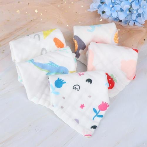 6 Layers Cotton Soft Baby Face Towel Muslin Baby Towels Handkerchief Bathing Feeding Face Washcloth Wipe Burp Cloths 25x25cm