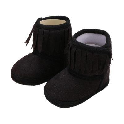 Newborn Baby Boots Winter Baby Fringe Boots Girl Newborn Solid Color Tassel Soft Bottom New Cotton Warm Boots 0-18M