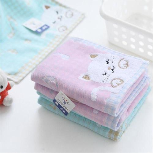 1pcs Comfortable Cotton Children Kids Towel Super Soft Kids Cute Kittens Strong Water Absorbing High End Towel High Quality