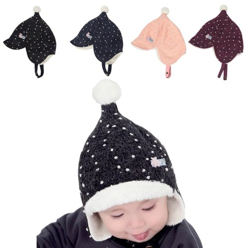 Hat Toddler Kids Girl Boy Baby Infant Winter Warm Cute Hair Ball Hat
