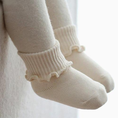 Baby Warm Soft Boots Socks Girls and Boys Fashion new Kid Agaric Trim Cuffs Socks suit for 0-4 years