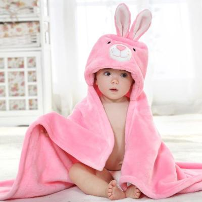 Rabbit Cartoon New Born Baby Towel Bath Soft Flannel Towel Bathrobe Wash Bath Towel Toalla kids Towels