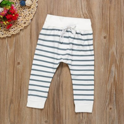 2pcs Newborn Baby Boys Girls Autumn Hooded Coat Tops+striped Pants Legging Outfits Clothes Sets