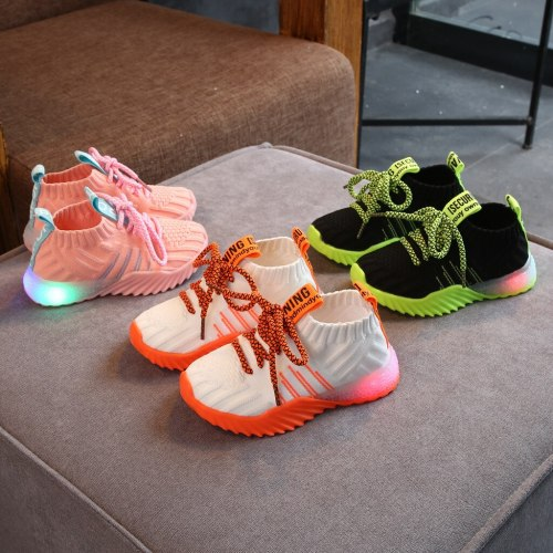 kids shoes Toddler Infant Kids Baby Girls Boys Mesh LED Light Luminous Sport Shoes Sneakers