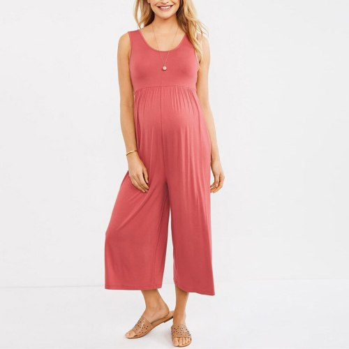 Fashion Overall Pregnant  Women Sleeveless Pregnancy Maternity Pants Solid Ladies Summer Jumpsuit
