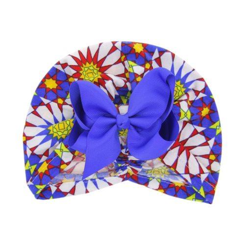 Newborn Children Baby Boys Girls Floral Bow Flower Hat