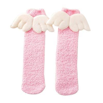 Baby Boy Girl Cute Angel Socks Wing Design Cotton Long Socks Party Infant Children Soft Crib Leg Warmer 5 Pair/Set