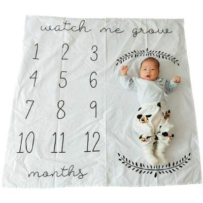 Baby Milestone Blanket Giraffe Print Photography Monthly Background Cloth 100CM Boys Girls Kids Camera Photo Props