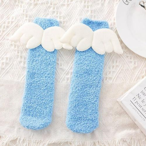 Baby Boy Girl Cute Angel Socks Wing Design Cotton Long Socks Party Infant Children Soft Crib Leg Warmer 5 Pair/Set
