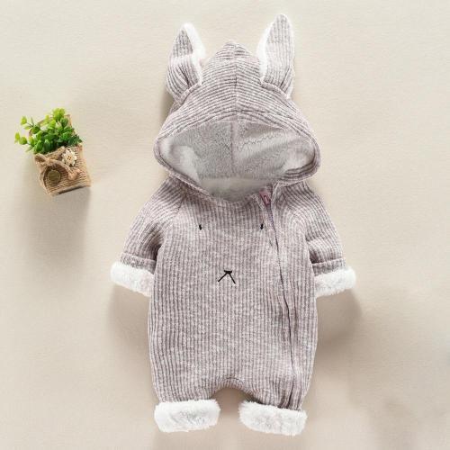 Cute Baby Long Sleeve Romper Newborn Baby Boy Girl Cartoon Romper Hooded 3D Ear Rompers