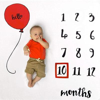 Cute Boys Girls Newborn Photo Props Covers Baby Monthly Growth Milestone Blanket Balloon Photography Background Cloth