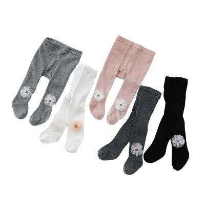 Tights For Girls Floral Baby Girl Pantyhose Knitted Cotton Stocking For Girl Cute Baby Girls Tight 1-4Y