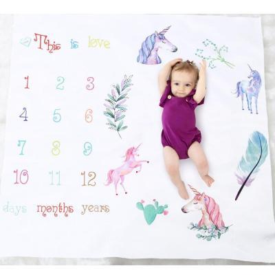 Unisex Baby Milestone Blanket Newborn Photography Photo Props Cartoon Animal Toddler Memorial Day Monthly Background Cloth