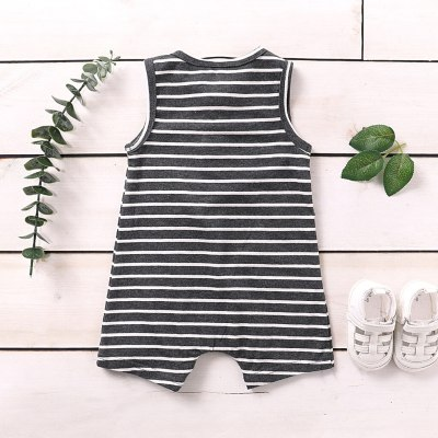 Newest baby boy clothes Infant Summer 2020 boys striped Jumpsuit Baby Boys Girls Sleeveless Striped Print Jumpsuit