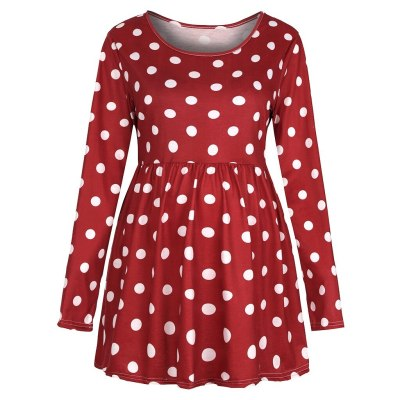 Pregnancy Toy Women's  Maternity Clothes Long Sleeve Dot Printed Tops Pregnant Shirt Blouse