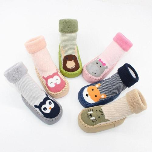 Autumn Baby Boy Girl Socks Anti slip Rubber Soles First Walkers Floor Toddler Socks Fashion Baby Socks