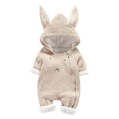 Cute Baby Long Sleeve Romper 2019 Newborn Baby Boy Girl Cartoon Romper Hooded 3D Ear Rompers
