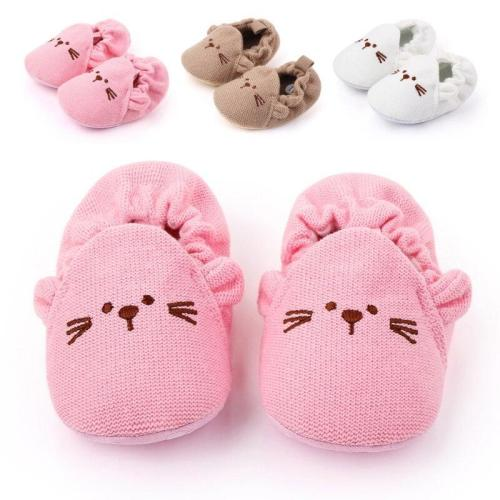 Winter Baby Cute knitting Shoes Warm  Shoes Soft Sole Non-slip Cartoon Toddler Shoes