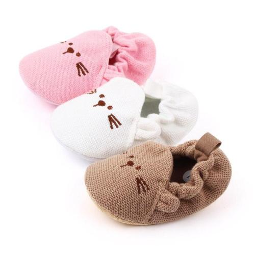 Winter Baby Cute knitting Shoes Warm Cribe Shoes Soft Sole Non-slip Cartoon Toddler Shoes Infant Boy Girl First Walking Shoes
