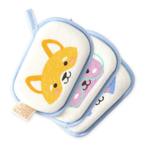 Newborn Baby Kids Boys Shower Bath Sponge Cartoon Body Wash Towel Loofah Bath Shower