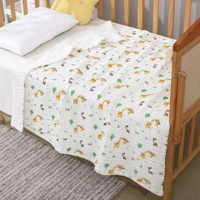 Baby Blanket & Swaddling Newborn Gauze Soft Blanket Solid Bedding Set Cotton Quilt 6 layer 110x110cm baby towel