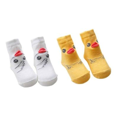 1 Pair Kids Socks Sweet Cartoon Animal Baby Socks Toddler Infant Soft Cotton Children Cute Sock 0-4Y